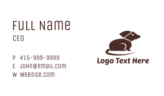 Brown Small Dog Business Card