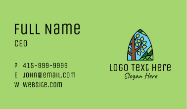 Nature Tree Mosaic  Business Card