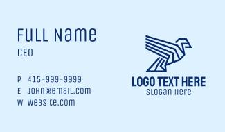 Geometric Blue Bird Business Card