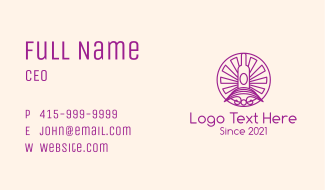 Minimalist Winemaker Badge Business Card