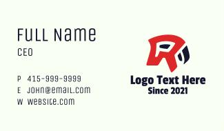 Parrot Letter R  Business Card