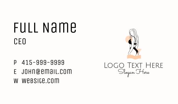 lingerie - Sexy Fashion Woman Business card horizontal design
