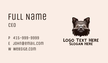 Shaggy Dog Head   Business Card