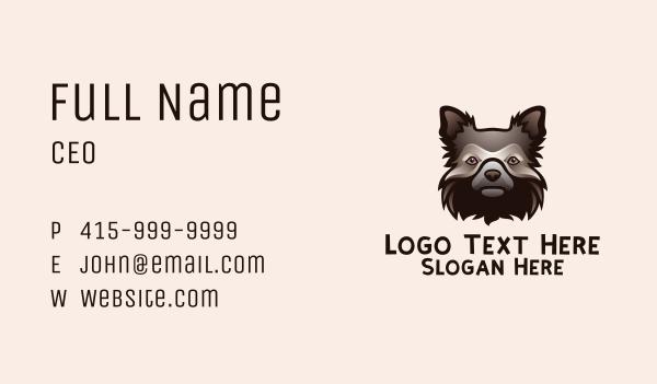stuffed toy - Shaggy Dog Head   Business card horizontal design