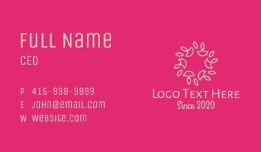 Flower Pattern Circle Business Card