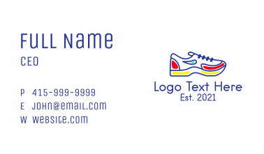 Running Jogging Shoes Business Card