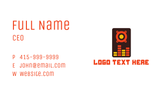 Abstract Speaker Mixer  Business Card