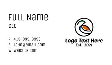 Bird Artistic Badge Business Card