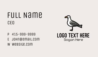 Seagull Cartoon Business Card