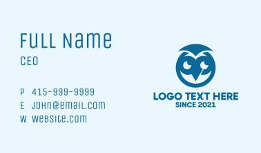Blue Owl Mascot Business Card