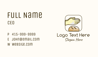 Hand Bread Baker Business Card
