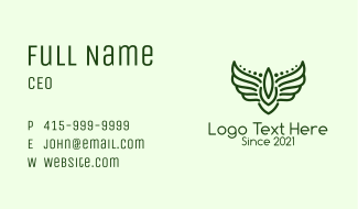 Winged Military Badge  Business Card