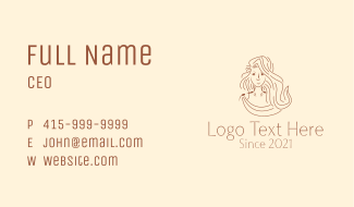 Woman Greek Fashion Business Card