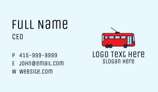 Public Bus Transportation Business Card