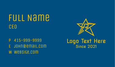 Music Note Star Business Card