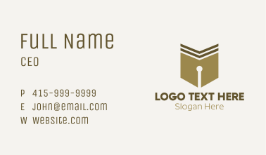Classic Pen Calligraphy  Business Card
