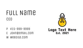 Light Bulb Jellyfish Business Card