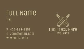 Minimalist Liquor Bottles Business Card