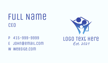 Blue Family Home  Business Card