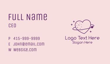 Love Planet Orbit  Business Card