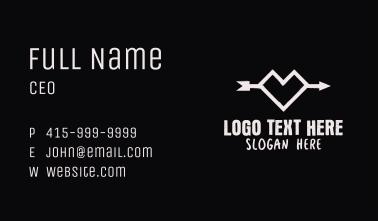 Grunge Geometric Heart Arrow Business Card