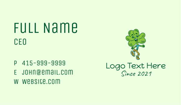 saint patrick - Happy Shamrock Clover  Business card horizontal design
