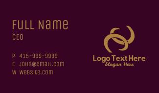 Gold Earrings Jewelry  Business Card
