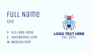 Corporate Bug Mascot  Business Card