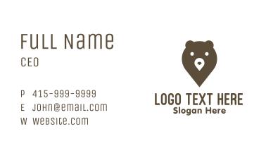 Bear Pin Business Card