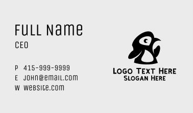Black Baby Penguin Business Card