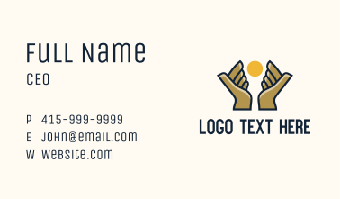 Sun Hands Foundation Business Card