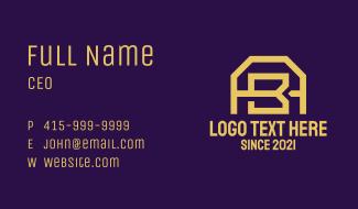A & B Gold Monogram Business Card