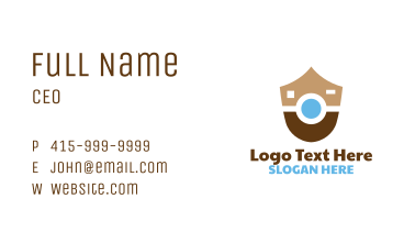 Abstract Shield Camera Business Card