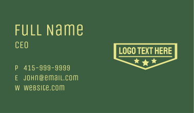Rank Badge Wordmark  Business Card