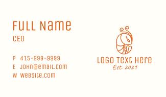 Minimalist Shrimp Line Art Business Card