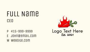 Flame Chili Knife Business Card