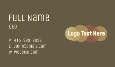Sepia Swatch Craft Wordmark Business Card