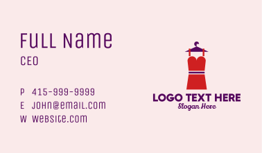 Simple Red Dress Business Card