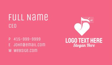 White Heart Music  Business Card