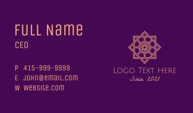 Decorative Moroccan Tile Business Card