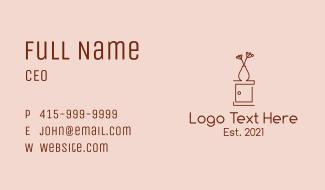 Flower Vase Cabinet Business Card