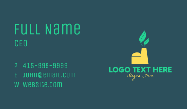 Eco Factory Manufacturing Business Card