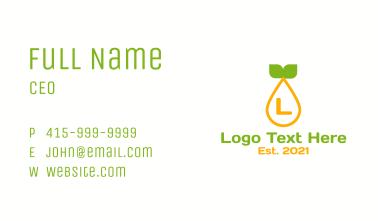Citrus Pulp Letter Business Card