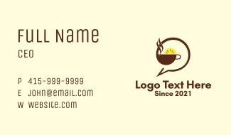 Lemon Tea Chat  Business Card