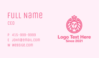 Crown Woman Beauty Business Card