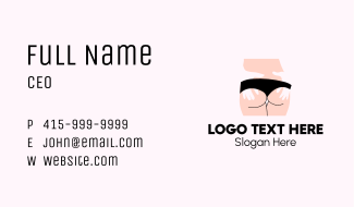 Sexy Woman Lingerie Business Card