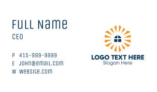 Window Sunburst Polygonal Business Card