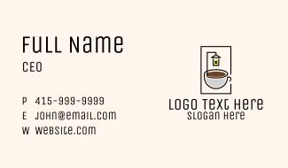 Late Night Coffee Shop Business Card