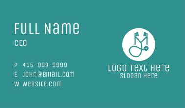 Medical Stethoscope  Business Card