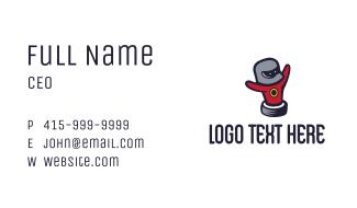 Wheel Man Mascot Business Card